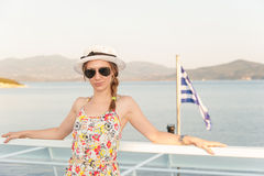 Girl on a Ferry Royalty Free Stock Photos