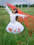 Girl in field Stock Image
