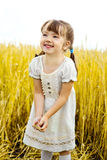 Girl in the field Royalty Free Stock Photos