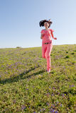 Girl at field Stock Photo