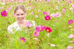 Girl in a field Royalty Free Stock Photo