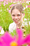Girl in a field Stock Images