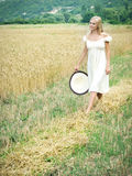 Girl in the field Royalty Free Stock Photography
