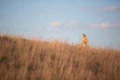 Girl in field Stock Photo