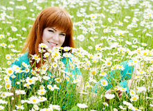 Girl in the field Stock Photography