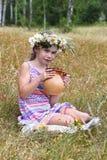 Girl at field Royalty Free Stock Photos