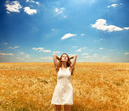 Girl at field Stock Photography