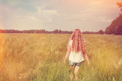 Girl in field Stock Image