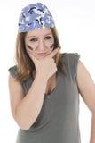 Girl in fierce combative attitude Royalty Free Stock Photo