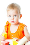 Girl of fifteen months old Royalty Free Stock Photos