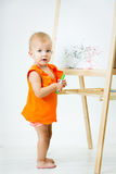 Girl of fifteen months old Stock Image