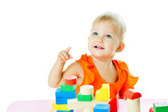 Girl of fifteen months old Royalty Free Stock Images