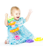 Girl of fifteen months old Royalty Free Stock Photo