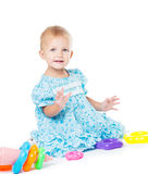 Girl of fifteen months old Stock Photos