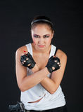 Girl fighter Royalty Free Stock Photography