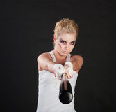 Girl fighter Stock Images