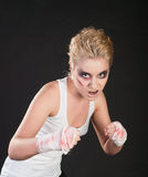 Girl fighter Stock Photography