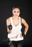 Girl fighter Stock Image