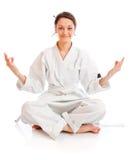 The girl-fighter in kimono Stock Photo
