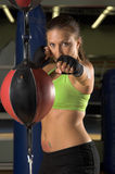 Girl Fighter Training Stock Photo