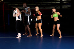 Girl Fighter Training Camp royalty free stock photos