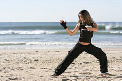 Girl fighting Stock Images