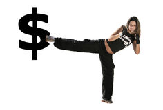 Girl fighting Stock Photography