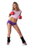 Girl in fighting gloves Stock Photography