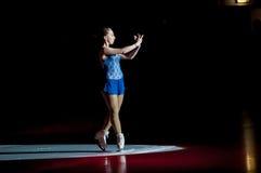 Girl figure skater Stock Image