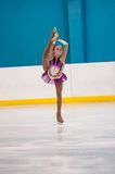 Girl figure skater, Orenburg, Russia Stock Photos