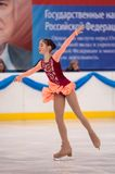 Girl figure skater, Orenburg, Russia Royalty Free Stock Photos