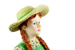 Girl Figurine Royalty Free Stock Photography