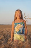 The girl in filed wheats. Royalty Free Stock Photos