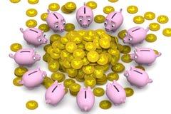 girl financiero lleva a cabo un paquete de placer de los dólares Concepto Imagen de archivo libre de regalías