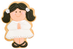 Girl first communion reminder Stock Image