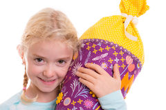Girl on first day at school Royalty Free Stock Photo
