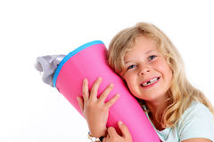 Girl on first day at school Royalty Free Stock Photography