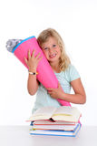 Girl on first day at school Stock Image