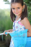 Girl with a fishing net Royalty Free Stock Photography