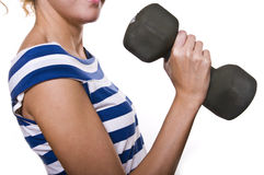 Girl in fitness Royalty Free Stock Photography