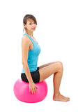 Girl with fitness ball Royalty Free Stock Photography