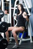 Girl in fitness center Royalty Free Stock Photo