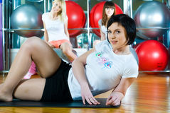 Girl in fitness center Stock Photography