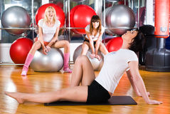 Girl in fitness center Royalty Free Stock Images
