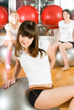 Girl in fitness center Stock Photo