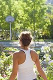 Girl in Fitness Clothes Royalty Free Stock Photos
