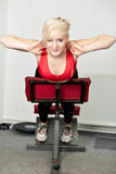 Girl in fitness club Stock Photography