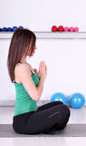 Girl fitness exercise Royalty Free Stock Photo