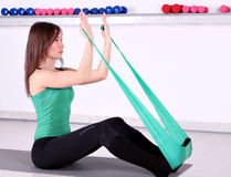 Girl fitness exercise Stock Photo