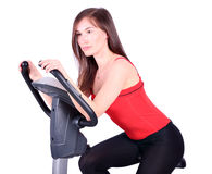 Girl fitness exercise Stock Image